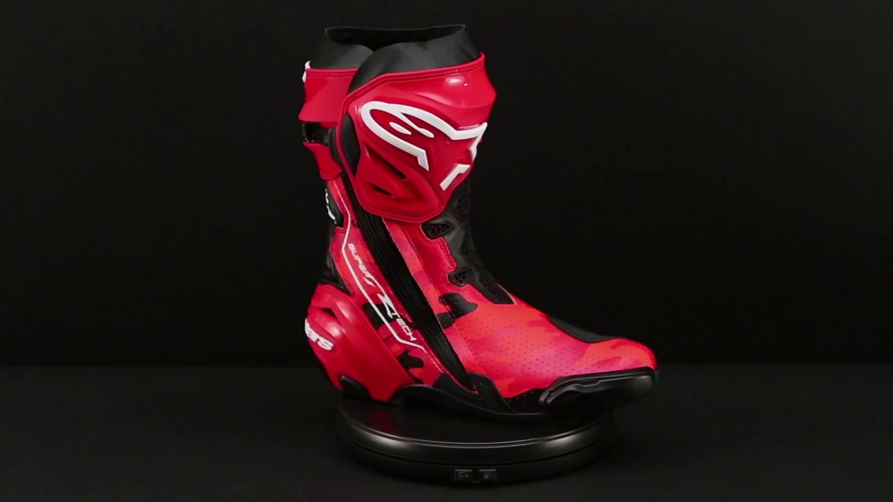 alpinestars limited edition 99 camo jorge lorenzo supertech r boots 360 view youtube. Black Bedroom Furniture Sets. Home Design Ideas