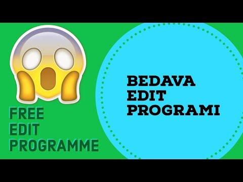 BEDAVA EDİT PROGRAMI !!!! *Free Video Edit Programme*