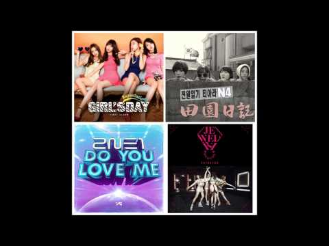 Girl's Day X 2NE1 X Jewerly X T ara N4 Jeon Won Love Me , Expectation , Hot & Cold [Mashup]