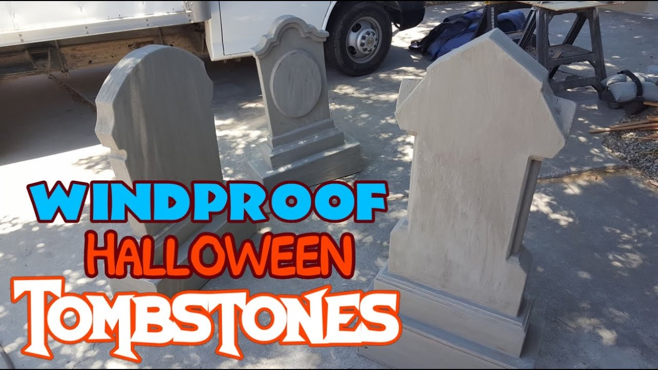 Halloween Tombstone Decorations | Heavy Duty Large Plywood Graveyard Props  (DIY)
