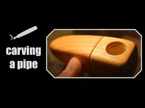 CARVING A WOOD PIPE - CHERRY