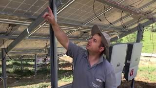 1 Megawattlık Güneş Enerji Santrali Montajı DC Kablolama işlemleri
