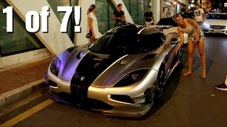 Girl driving a 1360HP Koenigsegg One:1 (revs & accelerations)