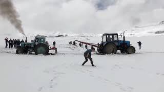 Синий трактор Трактор Беларус 1221 на бездорожье Off road tractor 1