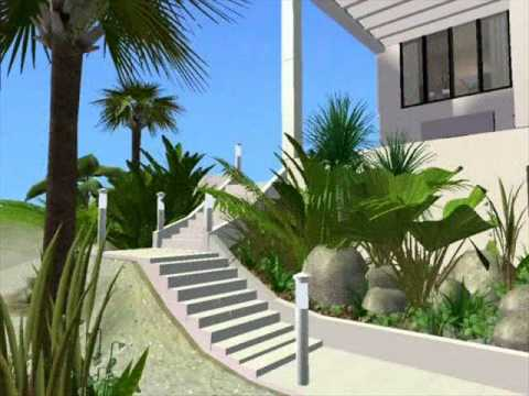 The sims 2 modern luxury beach house youtube for Beach house 3 free download