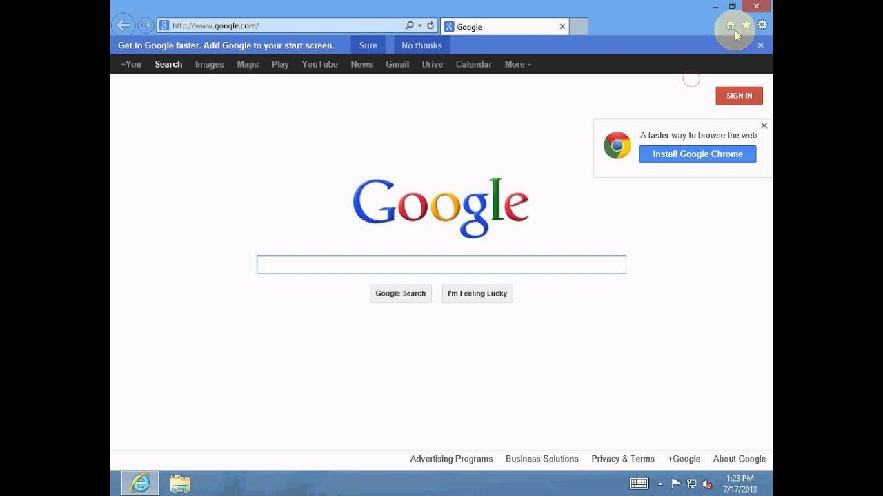 Search and get browsing suggestions in Internet Explorer ...