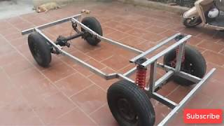 TECH - Homemade a car with gearbox strong car 500 kg - part 4