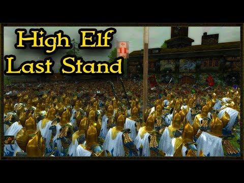 High Elves City Defense Vs 9000 Skaven Horde - Warhammer BOTET Total War Gameplay