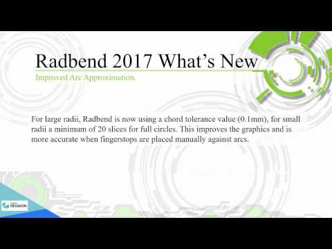 Новинки /What's New - Radbend 2017