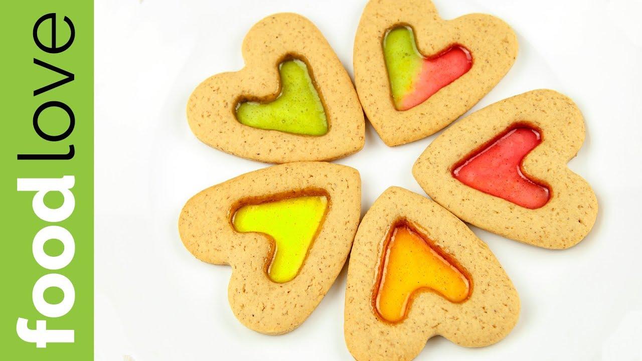 Витражное ИМБИРНОЕ ПЕЧЕНЬЕ ко Дню Всех влюбленных | День Святого Валентина | FoodLove