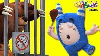 Oddbods | Comidos no Zoológico | Desenhos Infantil | Oddbods Brasil