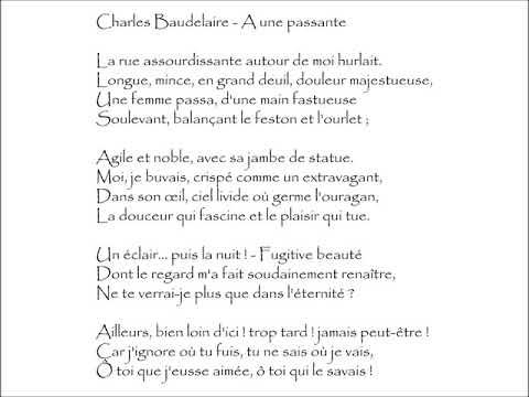 Baudelaire A Une Passante La Rue Assourdissante