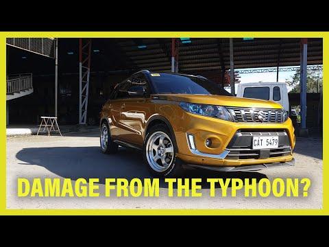Suzuki Vitara vs Typhoon DIY Dent repair/ Tire paint