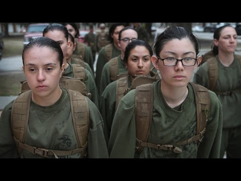 Female Marine Recruit Training at Marine Corps Recruit Depot, Parris Island