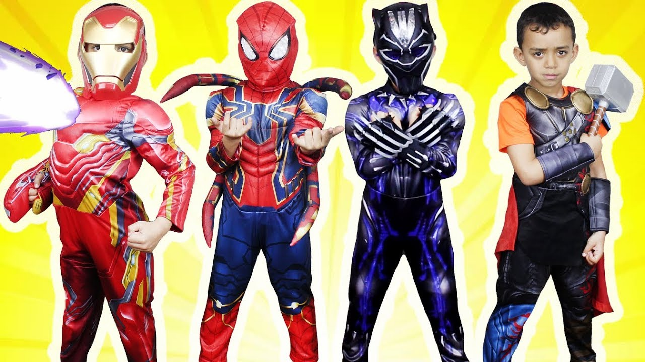 Superhero Kids Costume Runway Show - Avengers Infinity War Iron Spider Black Panther Iron Man Thor  sc 1 st  YouTube & Superhero Kids Costume Runway Show - Avengers Infinity War Iron ...