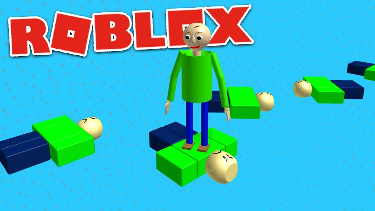 Play As Baldi Obby Roblox Baldi S Basics Gameplay Youtube