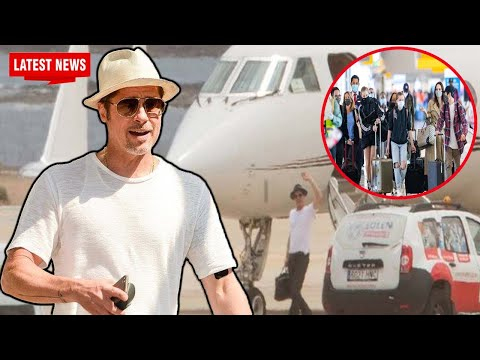 Brad Pitt also landed in NYC two days after Angelina Jolie and their six children were seen there.