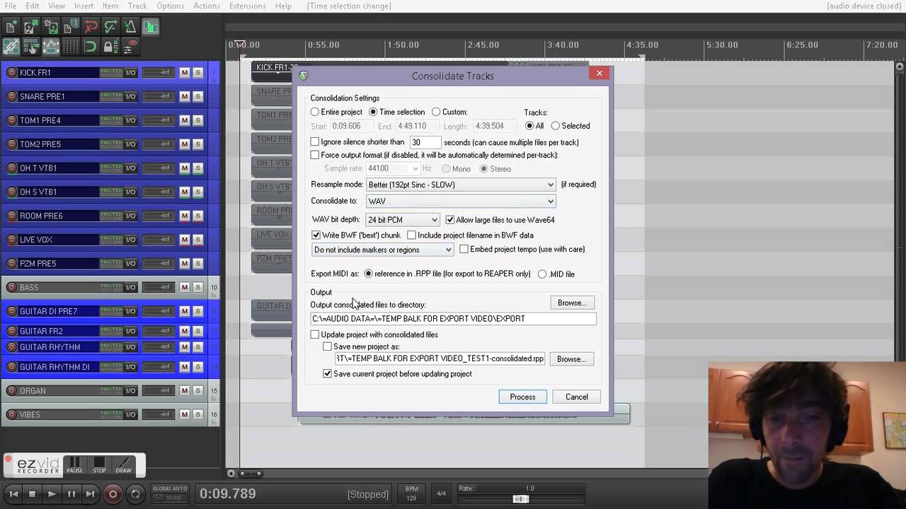 New Video Tutorial: REAPER: Exporting all of your raw tracks to use