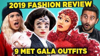 Adults React To 9 CRAZIEST 2019 Met Gala Outfits (Tier List)