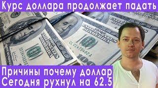Смотреть видео Причины падения курса доллара девальвация доллара прогноз курса евро рубля валюты на август 2019 онлайн