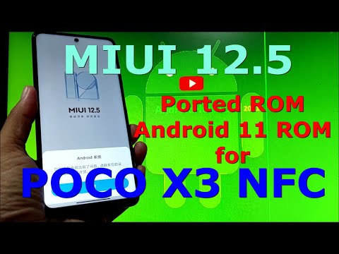 Best Gaming ROM for POCO X3 NFC Android 11 MIUI 12.5 Ported ROM