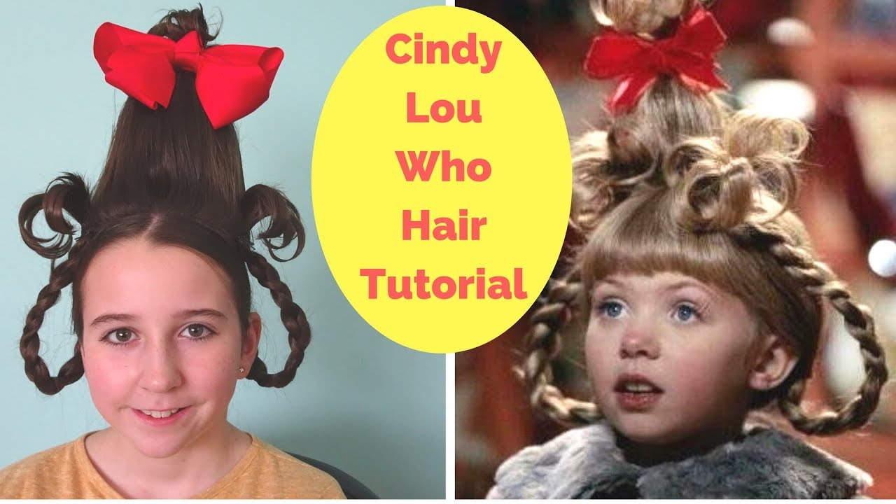 Cindy Lou Who Hair Tutorial Easy Halloween Hairstyle