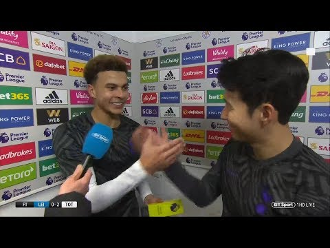 Dele Alli and Son share a laugh over MOTM award after 2-0 win at Leicester City Mp3