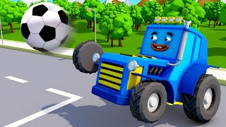 Мультики про машинки - Трактор ИГРАЕТ в МЯЧ | Мультфильмы для детей Городок - Машинки и Грузовички