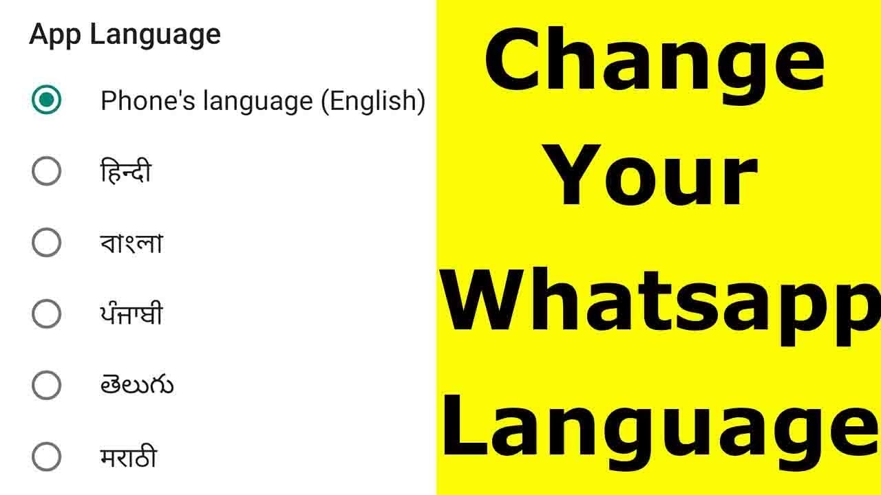 How To Change Language In Whatsapp Messenger For Android Mobile & Ios-2019