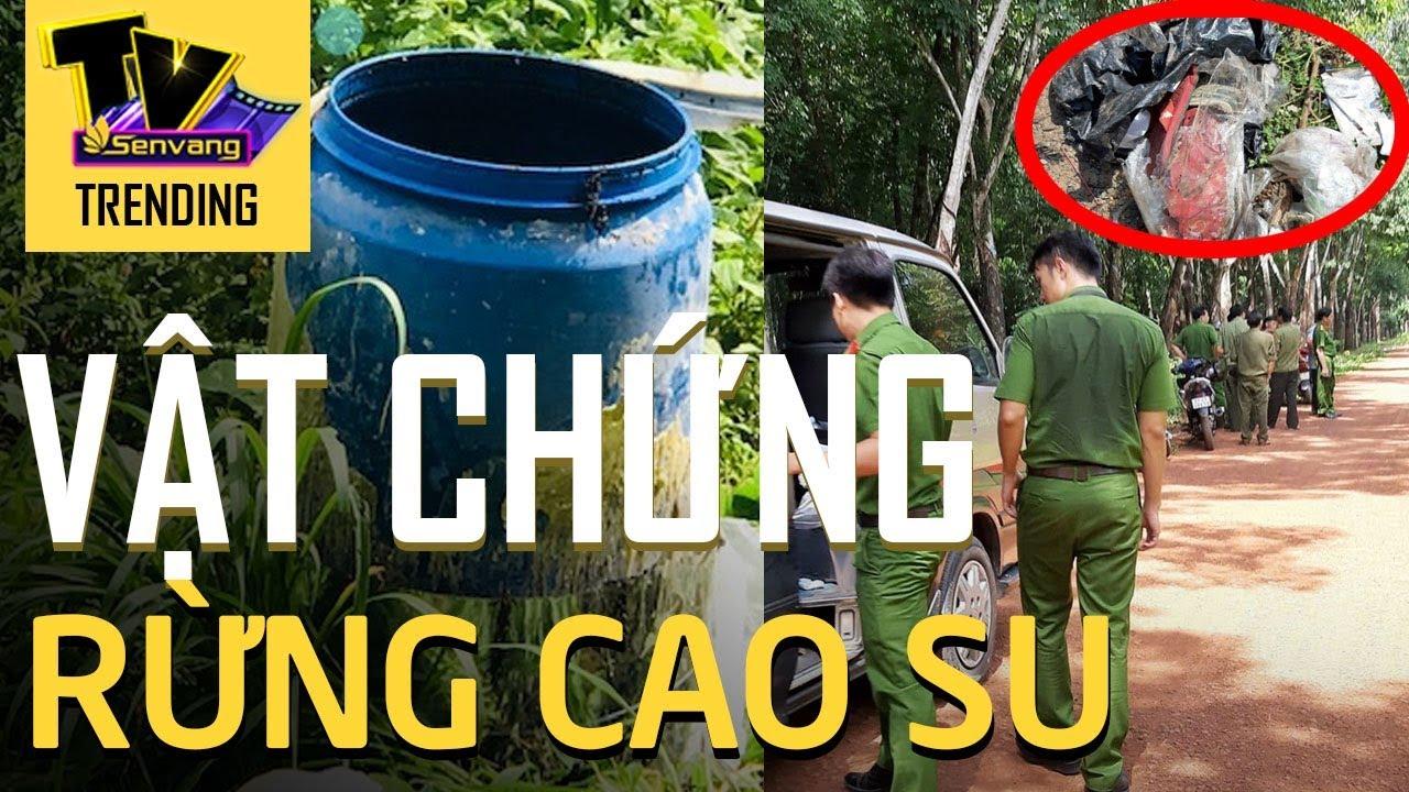 Cảnh sát vào rừng cao su truy tìm dấu vết phá án vụ 2 thi thể trong thùng nước đổ bê tông