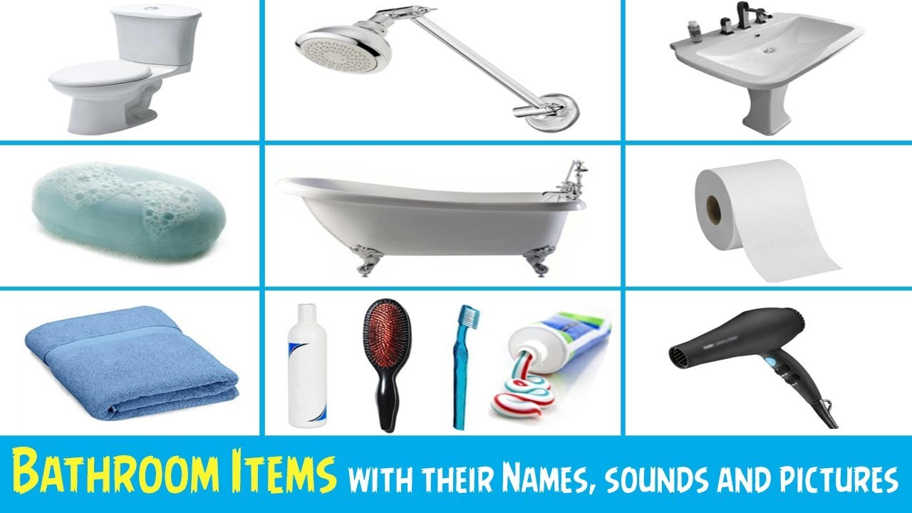 Bathroom Items With Their Names And