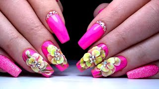 Красивый и простой Дизайн Ногтей Цветы Лепка. ТОП удивителные дизайны ногтей