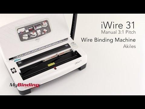 Akiles IWire 31 Manual 3:1 Pitch Wire Binding Machine
