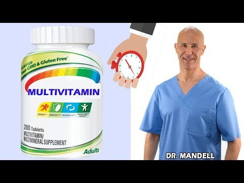 THE WORST TIME TO TAKE YOUR MULTIVITAMINS Dr Alan Mandell, DC