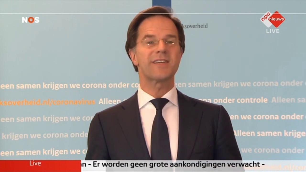 Persconferentie Rutte