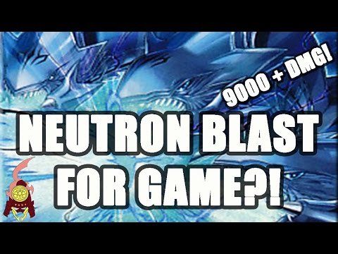 *YUGIOH* BLUE-EYES ULTIMATE DRAGON! NEUTRON BLAST FOR GAME?! 9000+DMG TOO STRONG (Live Commentary)