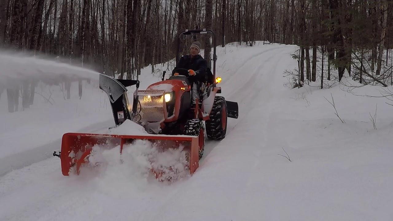 129 Kubota B Compact Tractor B B Snowblower Snow