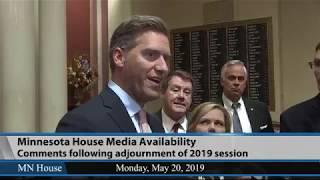 Minnesota House Republican Media Availability  5/21/19