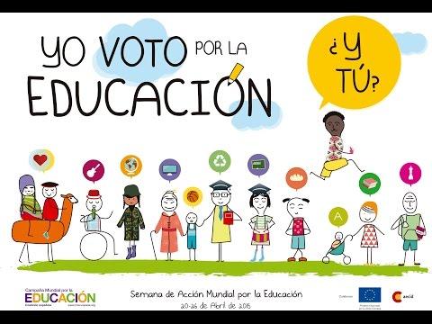 Yo voto por la educación, ¿y tú?