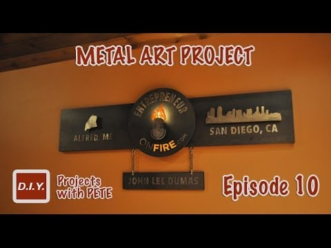 How to Make Metal Wall Art - Layered Metal Art Project for ...