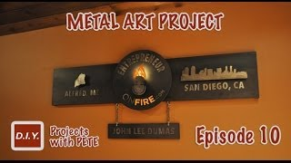 How To Make Metal Wall Art - Layered Metal Art Project For Entrepreneuronfire.com - Episode 10