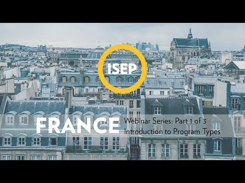 ISEP France Webinar Series: Part 1 of 3: Introduction to Program Types in France