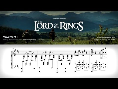 Paraphrase on themes from the Lord of the Rings (piano)
