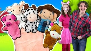 Old MacDonald Finger Family Song | Animals on the Farm sing Finger Family!