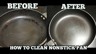 How to clean Greasy Oil from Non Stick Pan-How to Clean Nonstick Cookware-in Hindi(sub)
