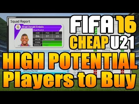 FIFA 16 Career Mode Best High Potential Players To Buy (Under 21)