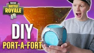 FORTNITE DIY - How to make a Port-A-Fort