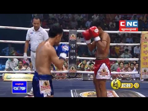 Him Serey vs Yuthchak(thai), Khmer Boxing CNC 13 May 2018, Kun Khmer vs Muay Thai