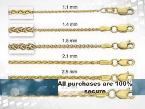 14k Italian Gold Round Wheat Chain
