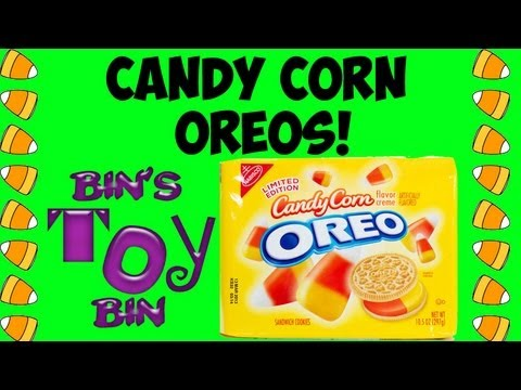 Limited Edition CANDY CORN OREOS for Halloween! Quick Review by Bin's Toy Bin